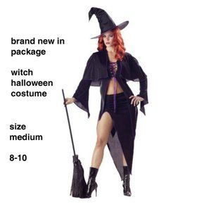 Spellbound Witch Halloween Costume NWT M 8-10